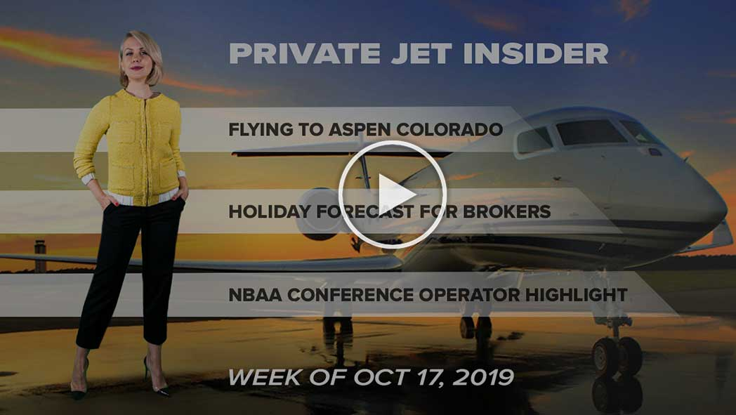 Flying into Aspen Colorado. Holiday Forecast for Brokers. Upcoming NBAA Conference for Operators